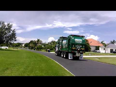 Waste pro recycling truck