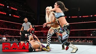 Sasha Banks & Bayley vs. Liv Morgan & Sarah Logan: Raw, Aug. 6, 2018