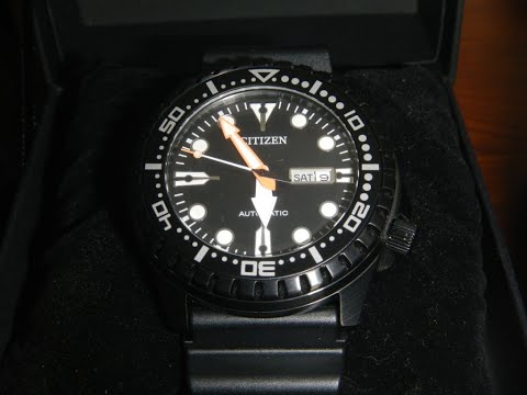 Citizen Marine sport NH8385-11E automatic watch unboxing and review