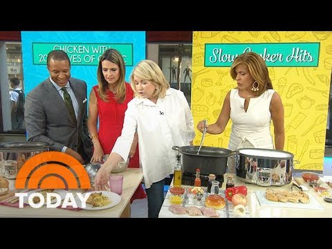Martha Stewart's Slow-Cooker Chicken 3 Delicious Ways | TODAY