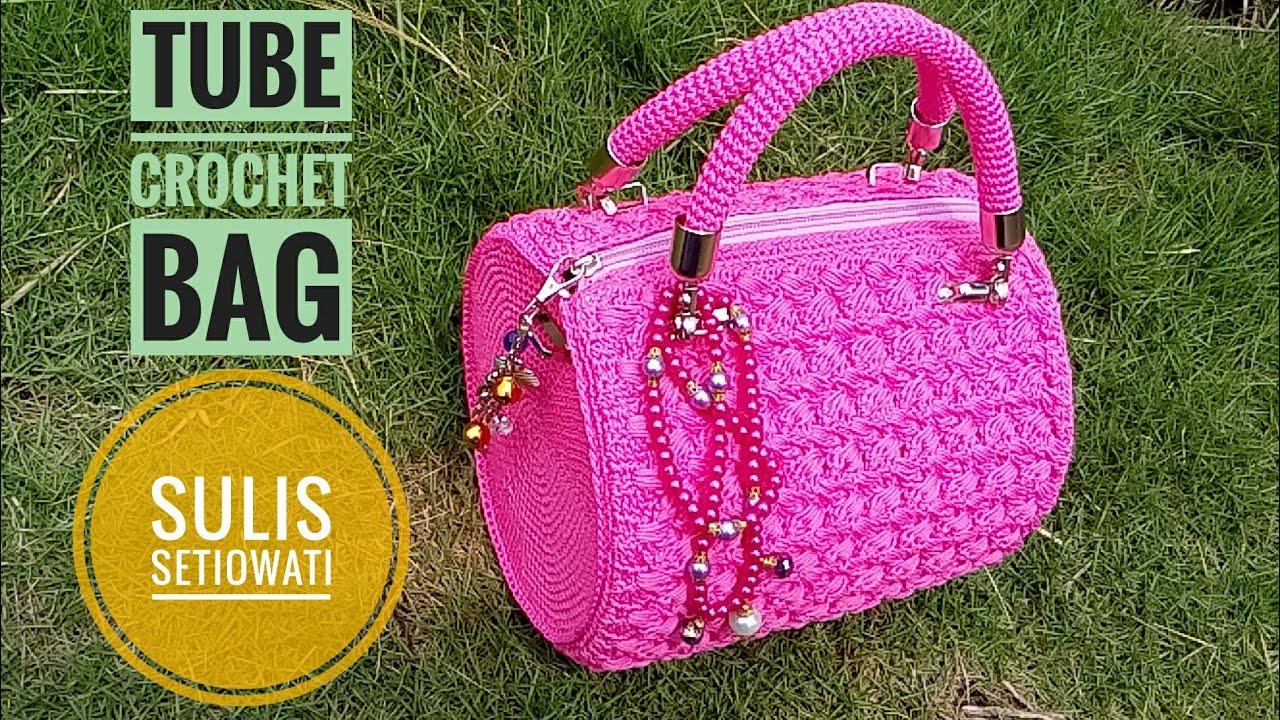 Afbeeldingsresultaat voor tube crochet bag