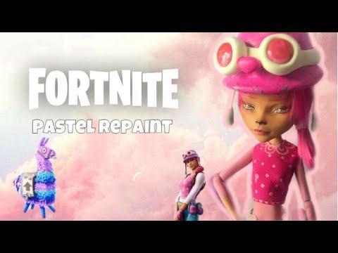 FORTNITE PASTEL Skin Custom OOAK Doll Repaint