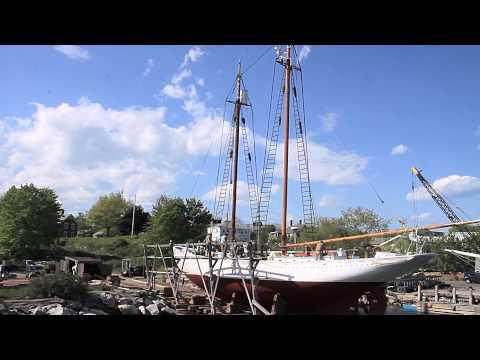 WINDJAMMER Sail Into The Future Arctic Explorer Bowdoin Relaunch