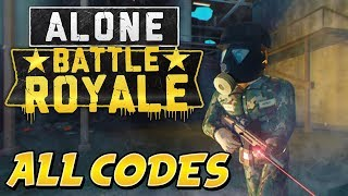ALL WORKING CODES in ALONE: BATTLE ROYALE (Roblox Codes 2019)