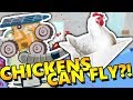HOW TO MAKE A CHICKEN FLY! | Ultimate Chicken Horse NEW MACHINES