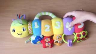 Детская игрушка музыкальная гусеница с классической музыкой, обзор