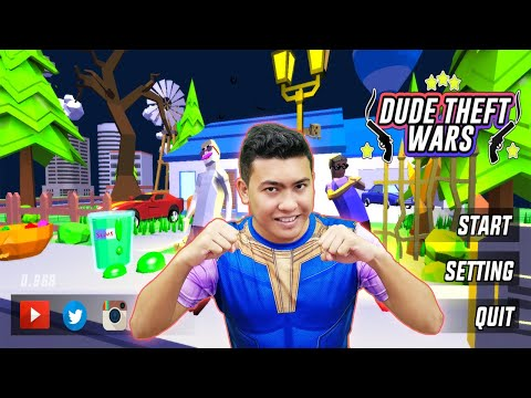 GTA + MINECRAFT ? Dude Theft Wars - Open World Sandbox Game - Android Mobile Gameplay