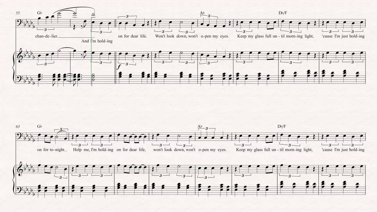 Cello - Chandelier - Sia Sheet Music, Chords, & Vocals - YouTube
