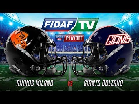 SEMIFINALI  Rhinos Milano vs Giants Bolzano