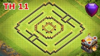 Clash of Clans - Town Hall 11 (CoC TH11) Base Design for Trophy Push - Legend