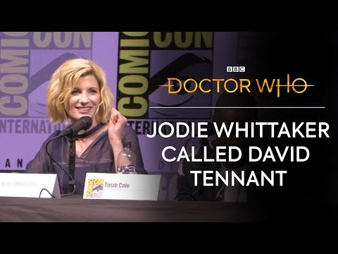 David Tennant's Reaction to the Thirteenth Doctor  San Diego ComicCon  Doctor Who