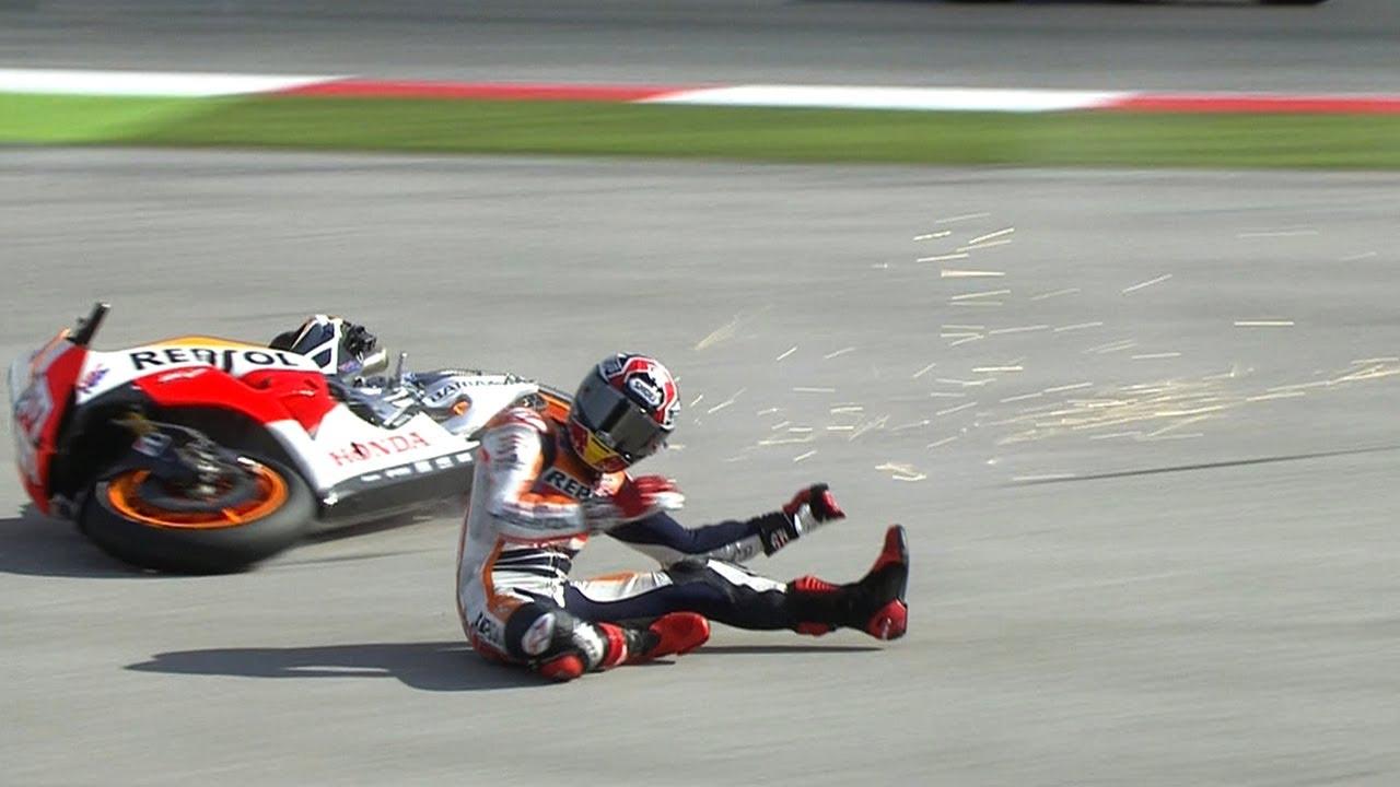 Marc Marquez Crash Misano 2013 Motogp Wup Action Youtube