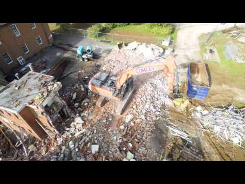 Aerial images of Comley Demolition project in Bordon