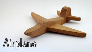 How To Make A Simple Wooden Toy Airplane ✈ - Toys For Charity