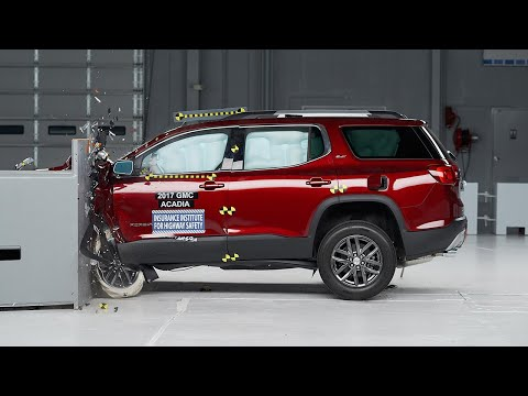 2017 GMC Acadia driver-side small overlap IIHS crash test