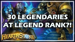 30 LEGENDARIES AT LEGEND RANK?! - Boomsday / Constructed / Hearthstone