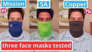 Mission Cooling Mask vs Copper Fit Mask vs SA mask: 3 gaiter masks tested
