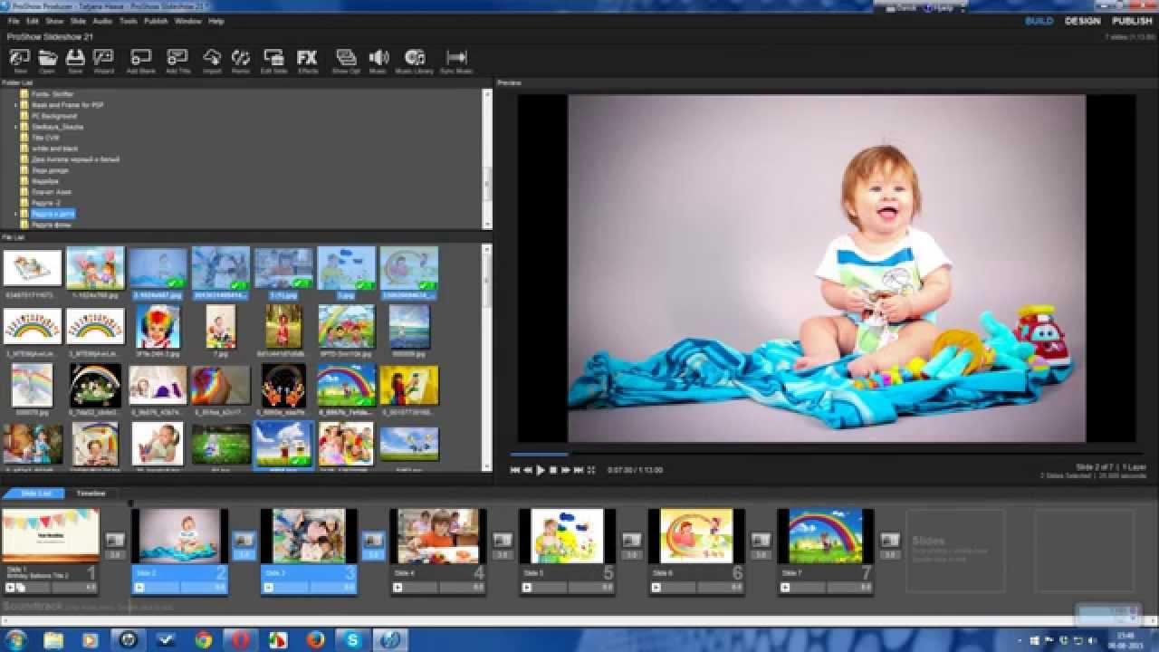 как работать с фотошопом в программе прошоу