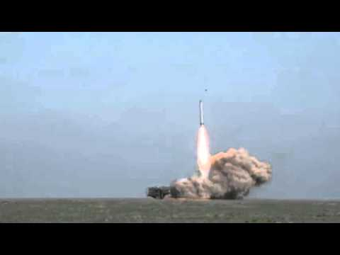 Launch of russian cruise missile 9K720 Iskander-M