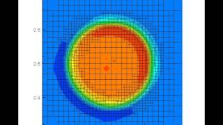 Решение задачи диффузии-конвекции на динамически-адаптивной сетке