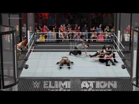 WWE 2K17 Anti-Divas Elimination Chamber Match(NXT Womens Championship)