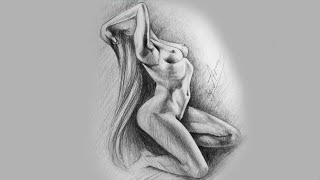 Drawing Female sexy Body Easy | Art Drawing Tutorial (speed art)