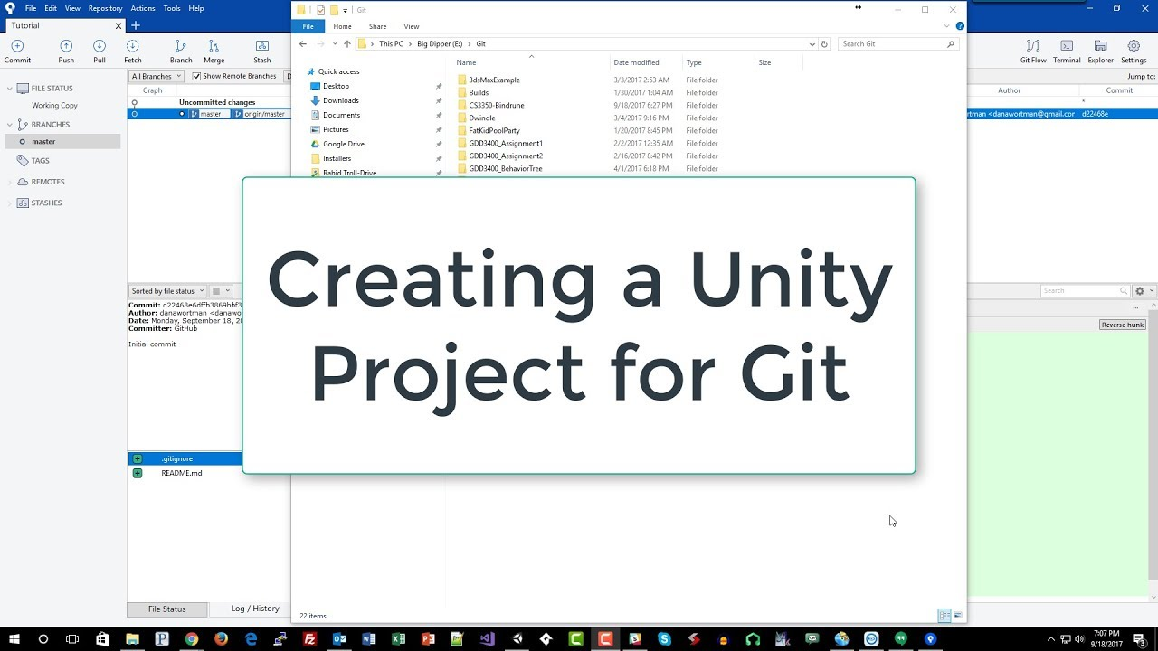 Creating a Unity Project for Github (4 of 9)