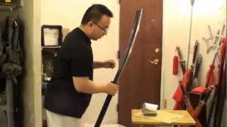 Hand Forged Pu Dao (Horse Cutter Blade) VS Soup Can!