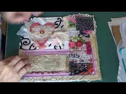 Mixed Media Valentine Art Quilt