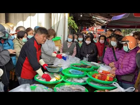 Taiwan Seafood Auction - Super Star In The Fish Market !