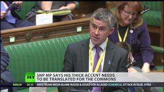 SNP MP's accent so strong it has to be translated