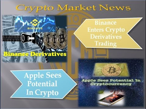 Crypto News – Binance Enters Derivatives & Apple on Crypto Potential