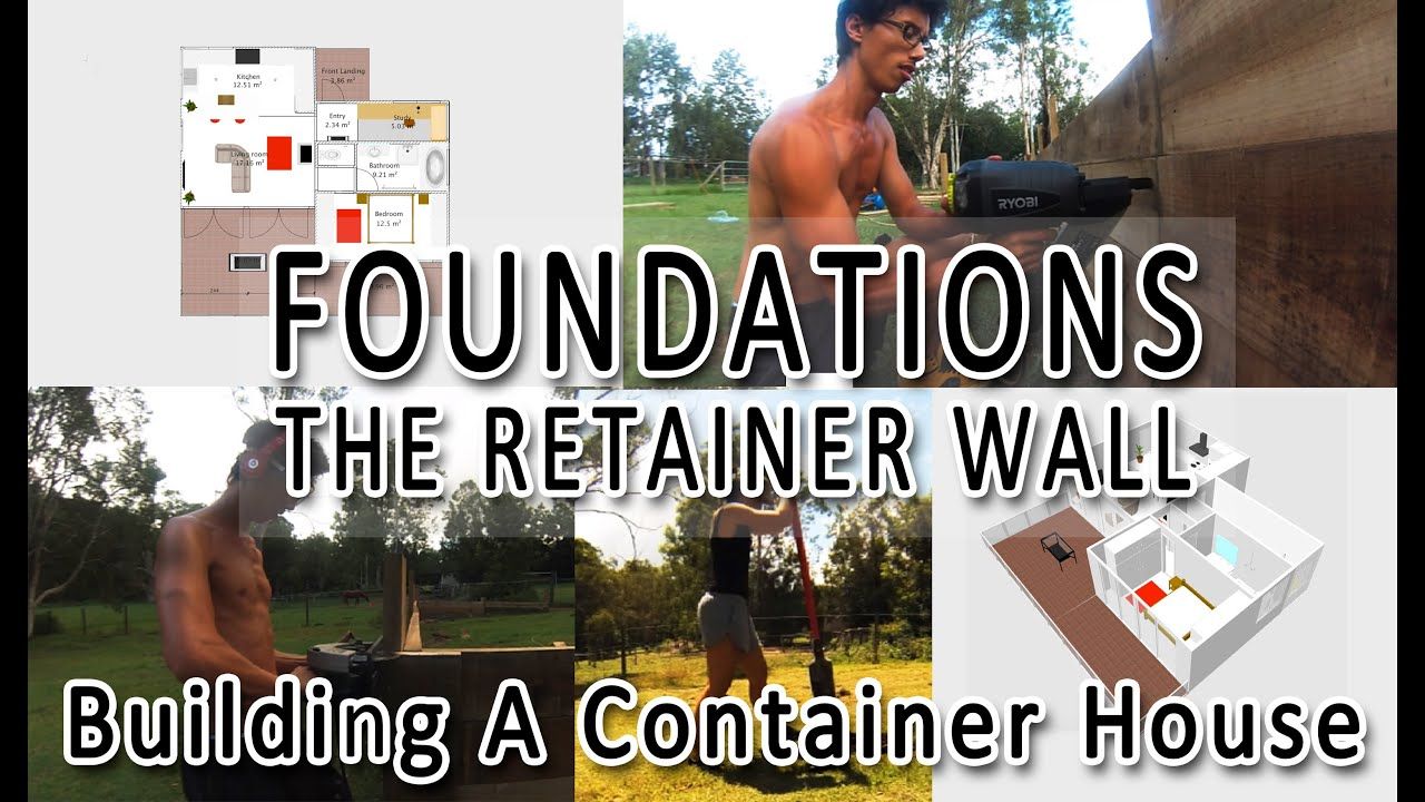 building a container house: foundations (part 1) - youtube