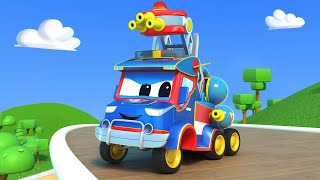 Super Truck -  FIRETRUCK on the RESCUE - Car City - Truck Cartoons for kids