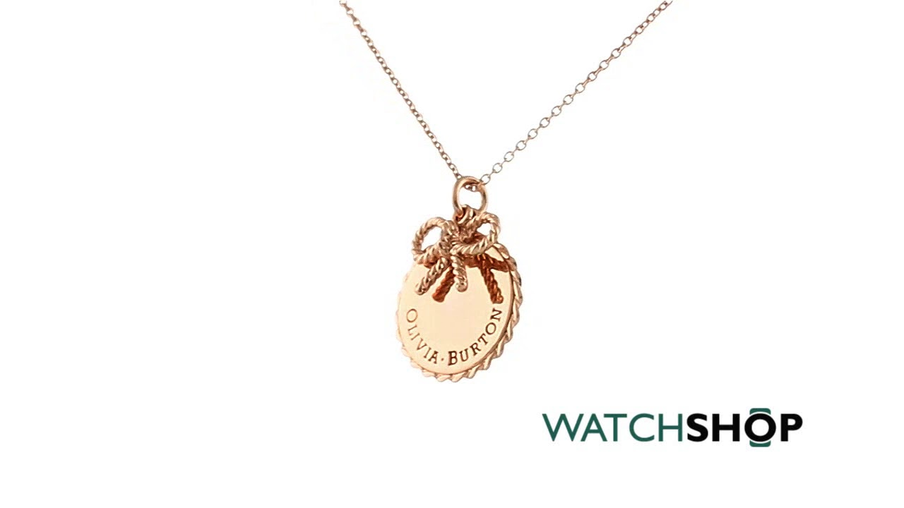 3fa3e9edf033 Olivia Burton Jewellery Ladies  Rose Gold Plated Vintage Bow Coin and Bow  Necklace (OBJ16VBN02)