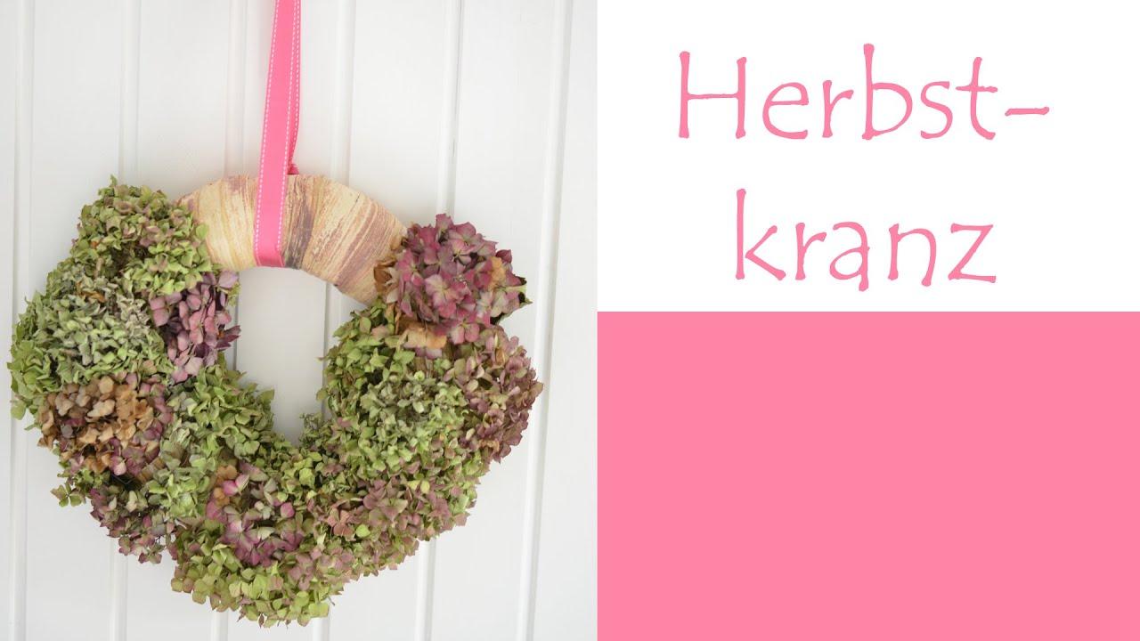 Hortensien Trocknen herbstkranz aus trockenen hortensienblüten de