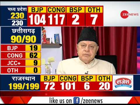 Farooq Abdullah on BJP losing 3 states in assembly elections
