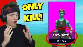 i can only kill item shop skins in fortnite... (very hard)