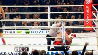 Александр Усик – Дэни Вентер НОКАУТ!  Oleksandr Usyk vs Danie Venter
