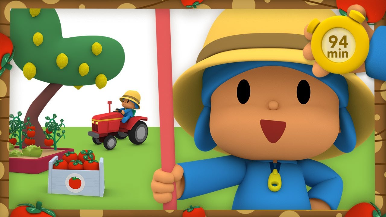 🐮 POCOYO AND NINA - I Want To Be A Farmer [94 min] | ANIMATED CARTOON for Children | FULL episodes