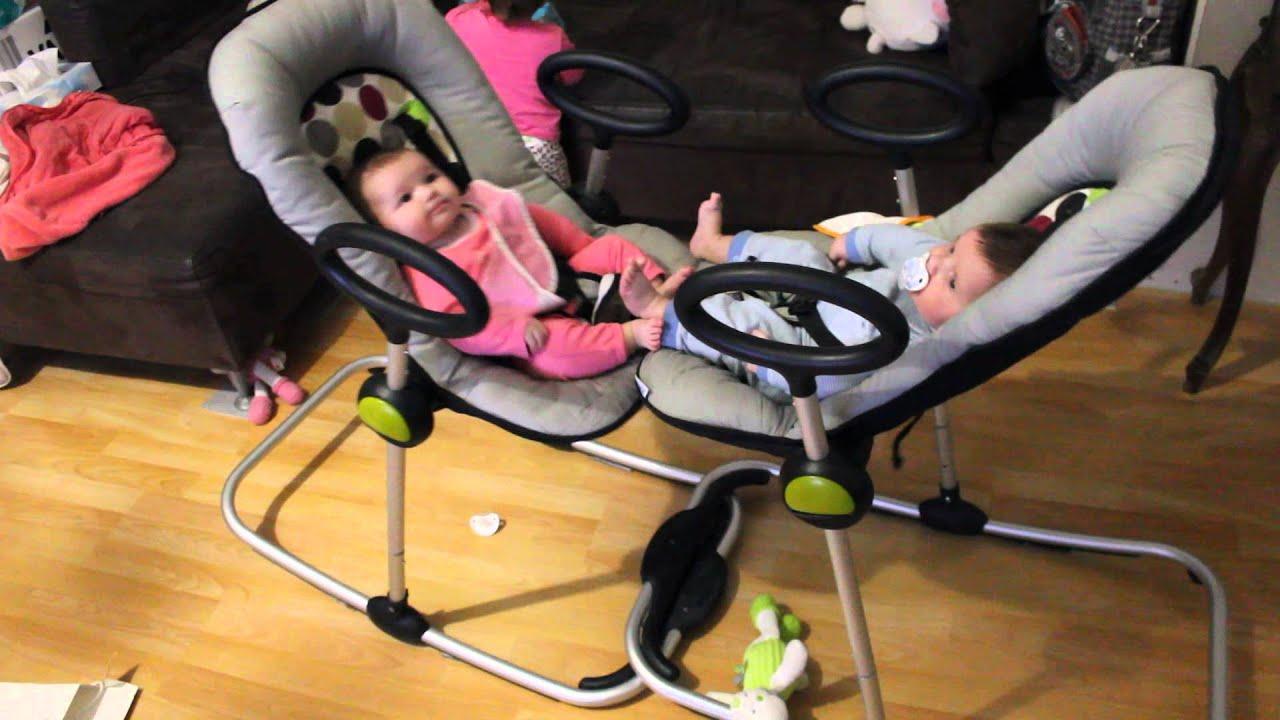 Auto balancement des jumeaux sur transat beaba youtube for Transatdo beaba