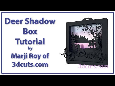 Deer Shadow Box Small Square tutorial