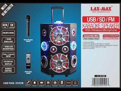 """LAX-MAX LI-S192 Karaoke Speaker - PA Karaoke speaker 2x6&10"""" woofer 713.587.0786"""
