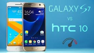 Galaxy S7 vs HTC 10 Speedtest Comparison!