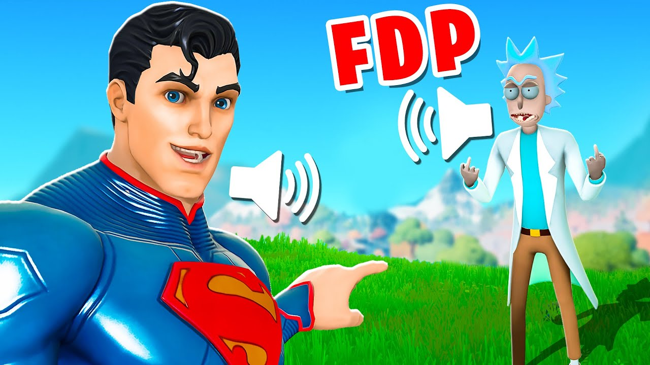 J'IMITE SUPERMAN, IL M'INSULTE !! (Troll Fortnite Saison 7)