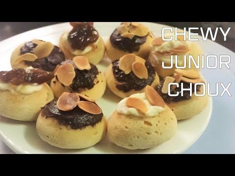 Cách làm BÁNH SU KEM CHEWY JUNIOR Singapore   Choux/Cream Puffs CHEWY JUNIOR recipe    MintaKitchen