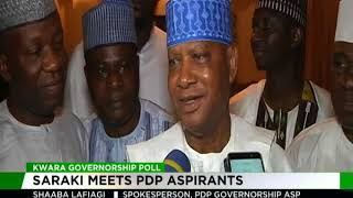 Saraki meets PDP  governorship aspirants