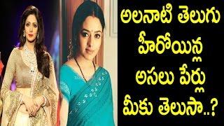Real names of south indian telugu heroines i sridevi i soundarya i nadiya