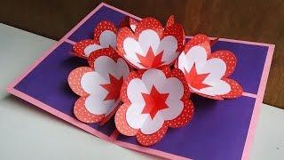 How to make a 3d flower pop up card gpc diy pop up card how to make a 3d flowe 1 year ago mightylinksfo