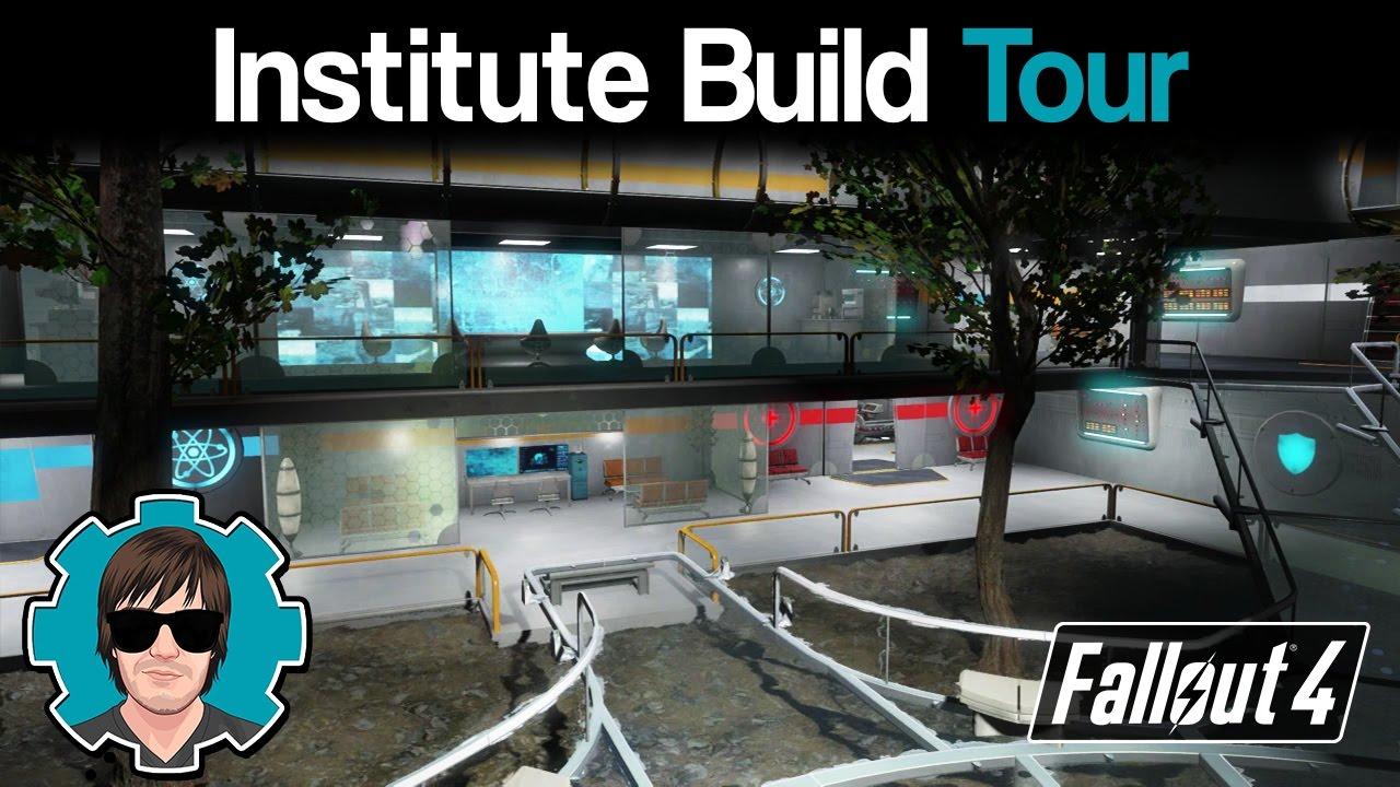 Fallout 4 Institute Build Tour Youtube